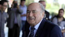 Presidente da Fifa, Joseph Blatter, em Luque. 3/3/2015 REUTERS/Jorge Ado