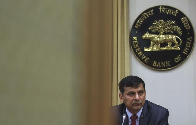 The Reserve Bank of India (RBI) Governor Raghuram Rajan listens to a question during a news conference, after the bi-monthly monetary policy review, in Mumbai, Febraury 3, 2015. REUTERS/Danish Siddiqui/Files