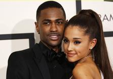 Big Sean and singer Ariana Grande  in Los Angeles, California February 8, 2015.  REUTERS/Mario Anzuoni