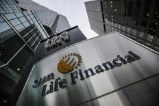 A Sun Life Financial sign is seen outside of their building before their annual general meeting for shareholders in Toronto May 7, 2014.   REUTERS/Mark Blinch