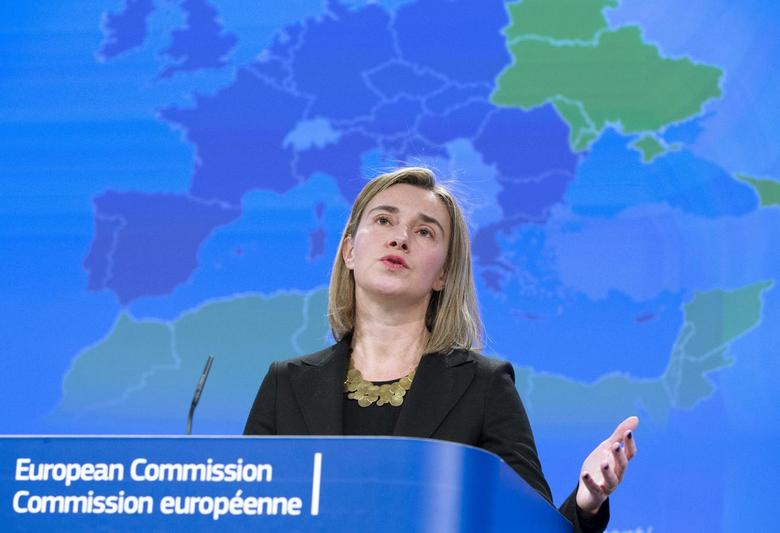 European Union Foreign Policy Chief, Federica Mogherini, speaks at a news conference on the European Neighbourhood Policy in Brussels, March 4, 2015.     REUTERS/Yves Herman