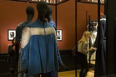 "The ""Bolero Platinium"" creation (1933-34) by late French fashion designer Jeanne Lanvin, is displayed during the Jeanne Lanvin exhibition at the Palais Galliera in Paris, March 6, 2015.  REUTERS/Philippe Wojazer"
