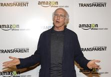 "Actor Larry David poses during Amazon's premiere screening of the TV series ""Transparent"" at the Ace Hotel in downtown Los Angeles, California, September 15, 2014. REUTERS/Kevork Djansezian"