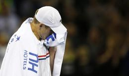 Tennis - Great Britain v United States of America - Davis Cup World Group First Round - Emirates Arena, Glasgow, Scotland - 6/3/15 USA's John Isner looks dejected after defeat Action Images via Reuters / Andrew Boyers Livepic