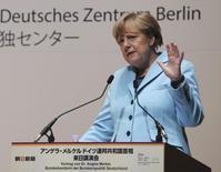 Chanceler alemã, Angela Merkel, durante entrevista coletiva em Tóquio.  09/03/2015 REUTERS/Koji Sasahara/Pool