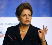 Presidente Dilma Rousseff  em evento em São Paulo. 10/32015 REUTERS/Paulo Whitaker