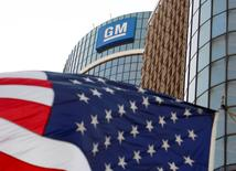 General Motors headquarters at the Renaissance Center in Detroit, Michigan is seen in this file photograph taken August 25, 2009.   REUTERS/Jeff Kowalsky/Files