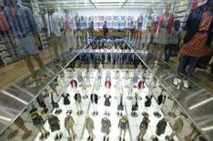 Mannequins are displayed at Fast Retailing's new flagship Uniqlo store at Tokyo's Ginza district in this March 16, 2012 file photo. REUTERS/Issei Kato/Files