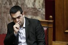 Primeiro-ministro grego, Alexis Tsipras, em sessão do Parlamento .   18/03/2015    REUTERS/Alkis Konstantinidis