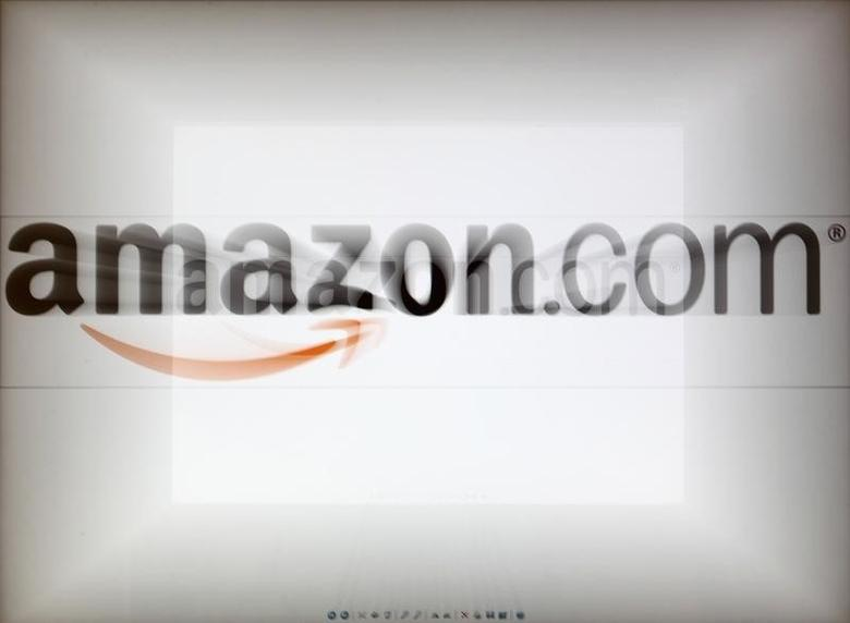 A zoomed image of a computer screen showing the Amazon logo is seen in Vienna November 26, 2012. To match Special Report TAX-AMAZON/   REUTERS/Heinz-Peter Bader
