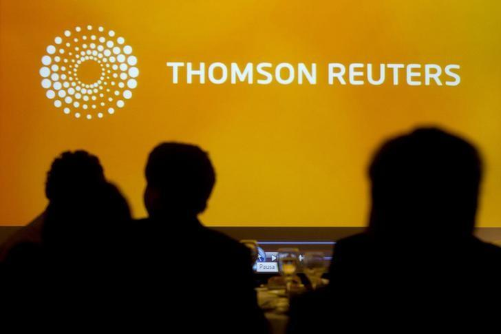 A logo of Thomson Reuters is seen during the Reuters Economic Forum at Santiago, November 8, 2013. REUTERS/Claudio Reyes/Files