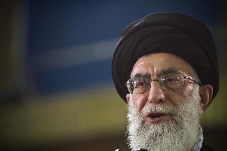 Iran's Supreme Leader Ayatollah Ali Khamenei speaks live on television  in Tehran June 12, 2009. REUTERS/Caren Firouz