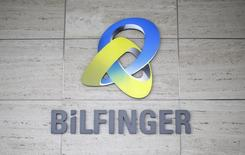 The logo of German industrial services provider Bilfinger is pictured on their headquarters in Mannheim January 21, 2013.