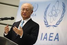 Diretor-geral da AIEA Amano concede entrevista em Viena. 02/03/2015.  REUTERS/Heinz-Peter Bader