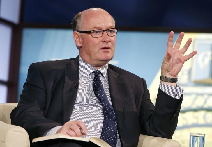 Douglas Flint, Group Chairman of HSBC, participates in Flagship: The Future of Finance panel discussion during the IMF-World Bank annual meetings in Washington in this file photo taken on October 12, 2014. REUTERS/Yuri Gripas