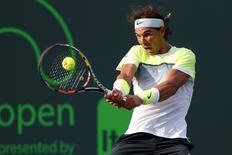 Rafael Nadal durante partida em Key Biscayne, no Aberto de Miami.  27/03/2015  Geoff Burke-USA TODAY Sports