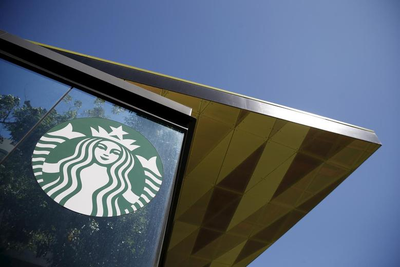 A Starbucks cafe is seen in Los Angeles, California March 26, 2015. REUTERS/Lucy Nicholson