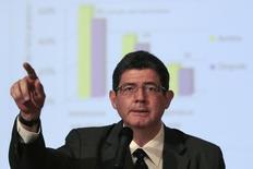 Ministro da Fazenda, Joaquim Levy, durante conferência em Brasília. 27/02/2015  REUTERS/Ueslei Marcelino