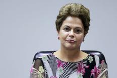 Presidente Dilma Rousseff durante encontro com Frente Nacional de Prefeitos, em Brasília. 08/04/2015 REUTERS/Ueslei Marcelino