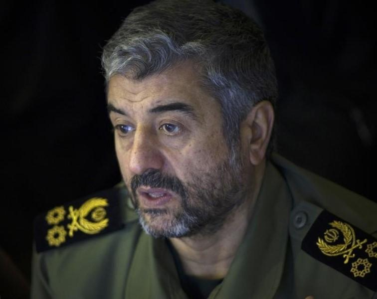 Iran's Revolutionary Guards commander Mohammad Ali Jafari looks on while attending Friday prayers in Tehran February 10, 2012. REUTERS/Morteza Nikoubazl