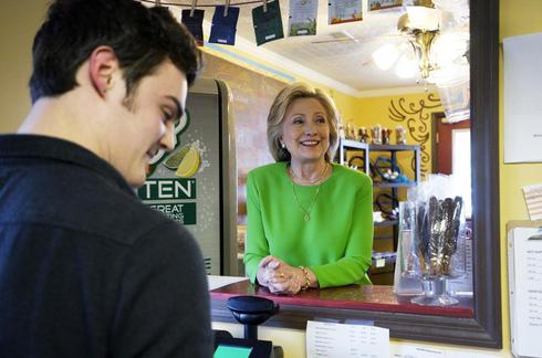 On the road with Hillary