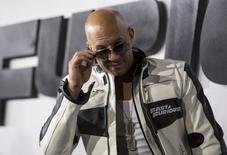 """El actor Vin Diesel durante la premiere de """"Furious 7"""", Teatro Chino de Hollywood, 3 abr. La más reciente película de la saga de """"Rápido y Furioso"""" lideró las ventas de entradas en la taquilla norteamericana en su tercer fin de semana en los cines, al recaudar 29,1 millones de dólares, de acuerdo a estimaciones de estudios. REUTERS/Mario Anzuoni"""