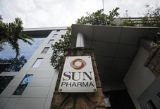 A logo of Sun Pharmaceutical Industries Ltd at its research and development center in Mumbai April 7, 2014.  REUTERS/Danish Siddiqui