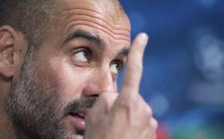 Técnico do Bayern de Munique, Pep Guardiola, em entrevista coletiva em Munique. 20/04/2015 REUTERS/Lukas Barth