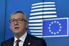 File photo of European Commission President Jean-Claude Juncker at a news conference following a European Union leaders summit in Brussels, March 20, 2015.   REUTERS/Eric Vidal