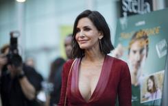 "Director of the movie Courteney Cox poses at the premiere of ""Just Before I Go"" in Los Angeles, California April 20, 2015. The movie opens in the U.S. on April 24.  REUTERS/Mario Anzuoni"