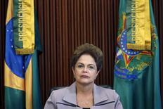 Presidente Dilma Rousseff durante encontro no Palácio do Planalto, em Brasília.   13/04/2015   REUTERS/Ueslei Marcelino