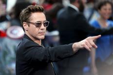 """Ator Downey Jr. em lançamento europeu de """"Vingadores"""", em Londres. 21/04/2015. REUTERS/Stefan Wermuth"""