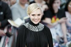 """Atriz Elizabeth Olsen em lançamento europeu de """"Vingadores"""" em Londres. 21/04/2015. REUTERS/Stefan Wermuth"""