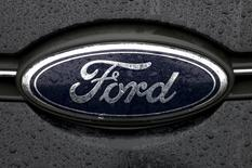 The Ford logo is pictured at the Ford Motor Co plant in Genk December 17, 2014. In 2012 F  REUTERS/Francois Lenoir