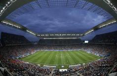 Vista da Arena Corinthians durante semifinal da Copa do Mundo entre Holanda e Argentina. 9/7/2014. REUTERS/Paulo Whitaker