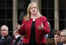 Canada's Transport Minister Lisa Raitt speaks during Question Period in the House of Commons on Parliament Hill in Ottawa March 10, 2015. REUTERS/Chris Wattie