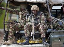 Kenya Defence Force soldiers arrive in Garissa University College in Garissa April 4, 2015.  REUTERS/Goran Tomasevic