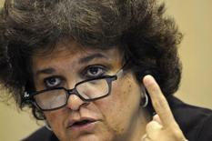 Ministra do Meio Ambiente, Izabella Teixeira, durante entrevista coletiva em Brasília. 14/11/2013 REUTERS/Andressa Anholete