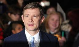 "File photo of Martin Freeman at the world film premiere of ""The Hobbit: The Battle of the Five Armies"" at Leicester Square in central London, December 1, 2014. REUTERS/Suzanne Plunkett"