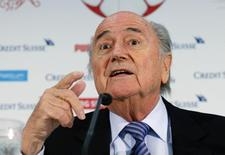 Presidente da Fifa Blatter concede entrevista em Luzern.  27/03/2015. REUTERS/Arnd Wiegmann