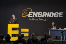 Al Monaco, President and CEO, Enbridge, speaks during the Enbridge Income Fund annual general meeting for shareholders in Toronto May 6, 2015. REUTERS/Peter Power