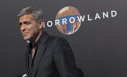 """Ator George Clooney  na pré-estreia de """"Tomorrowland"""" em Anaheim, na Califórnia. 09/05/2015 REUTERS/Mario Anzuoni"""