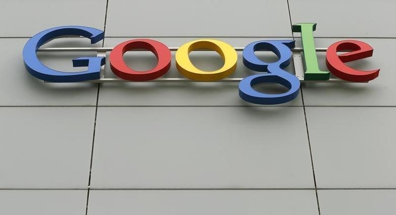 A logo is pictured at Google's European Engineering Center in Zurich April 16, 2015.  REUTERS/Arnd Wiegmann