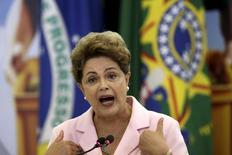 Presidente Dilma Rousseff durante evento no Palácio do Planalto, em Brasília. 06/05/2015 REUTERS/Ueslei Marcelino