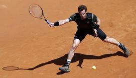 Andy Murray em partida contra Jeremy Chardy  no Masters de Roma. 13/05/2015