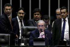 Presidente da Câmara dos Deputados, Eduardo Cunha, durante sessão da Casa, em Brasília. 05/05/2015 REUTERS/Ueslei Marcelino