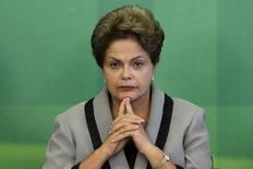 Presidente Dilma Rousseff no Palácio do Planalto, em Brasília. 16/03/2015 REUTERS/Ueslei Marcelino