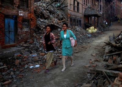 Picking up the pieces in Nepal