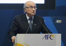 FIFA President Sepp Blatter speaks at the 26th Asian Football Confederation (AFC) Congress in Manama, Bahrain April 30, 2015. REUTERS/Hamad I Mohammed