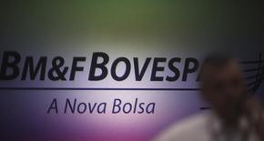 Logo da BM&FBovespa, em São Paulo. 07/10/2013 REUTERS/Nacho Doce